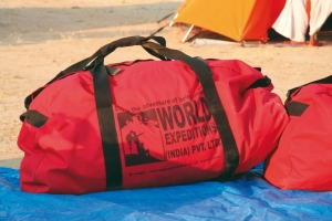 WYA provides duffel bags to use on certain expeditions