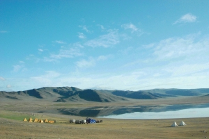 Campsite in the Altai