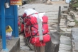 Sherpas carrying their loads in Nepal