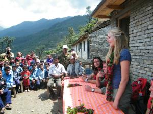 After completing a Community Project in Nepal