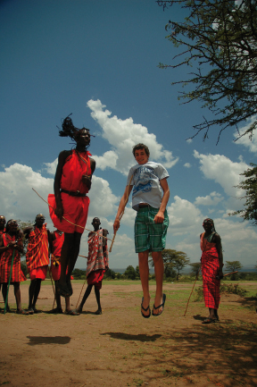 Jumping with the Masai