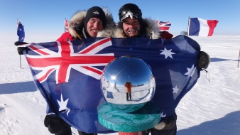 Cas and Jonesy at the South Pole