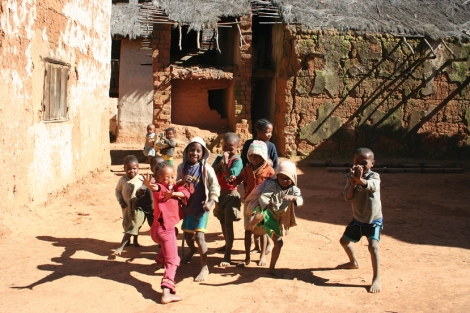 Village kids in Madagascar