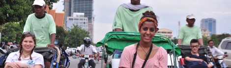 Student travelling in Asia