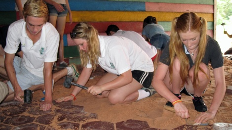 Students on a Service Learning trip in Vietnam