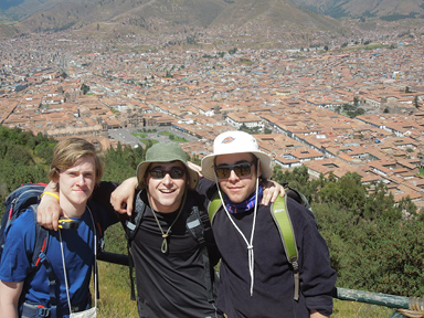 School friends hanging in Cusco, Peru