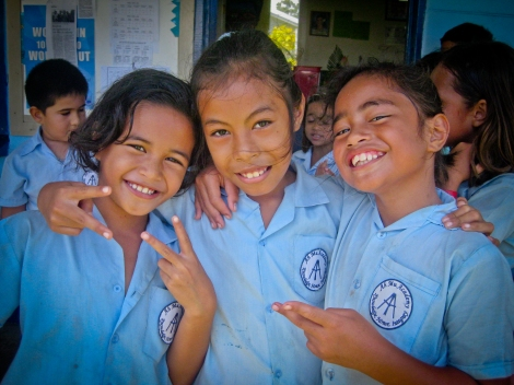 Students in Samoa