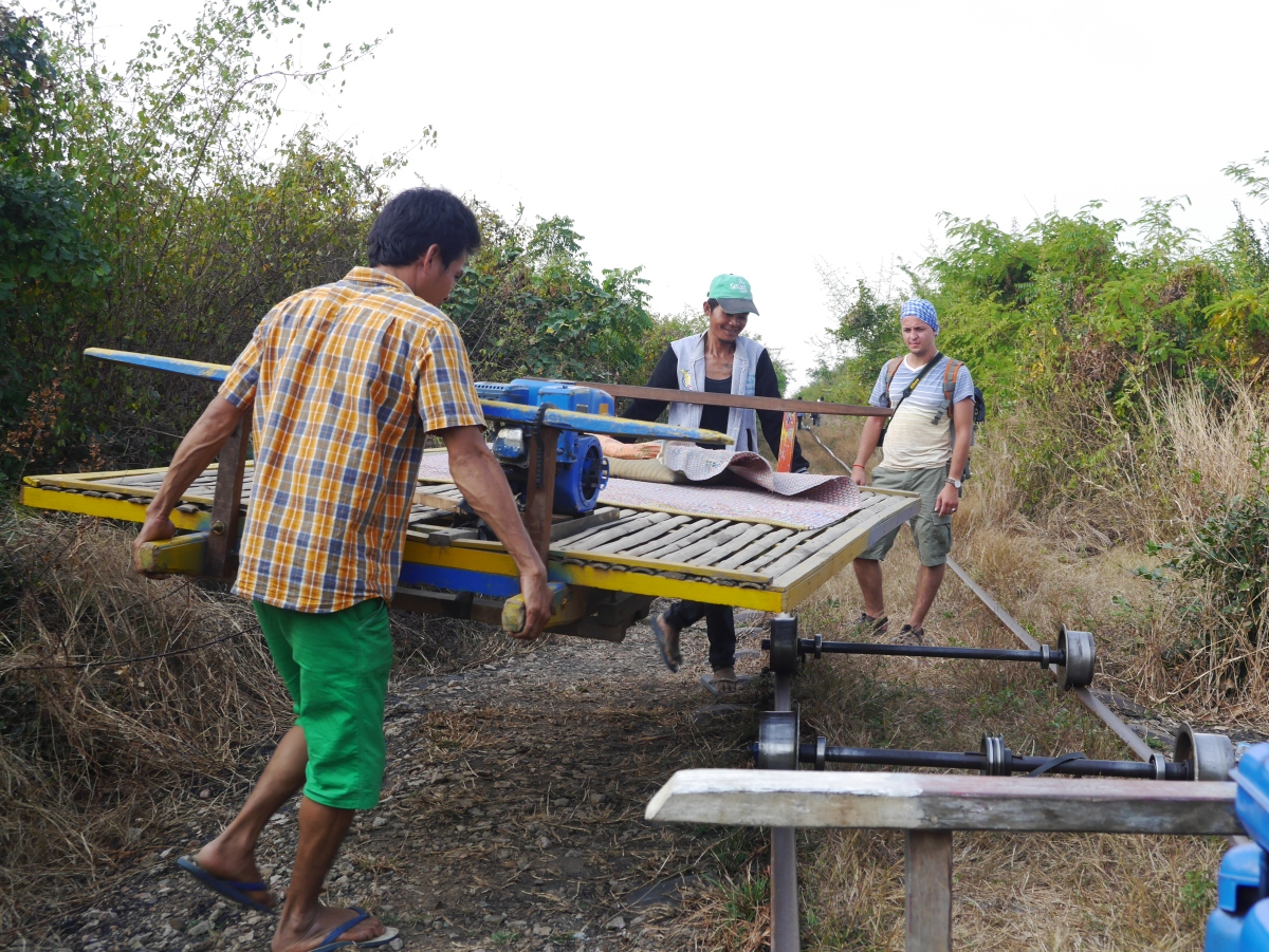 Bamboo train to Battambang