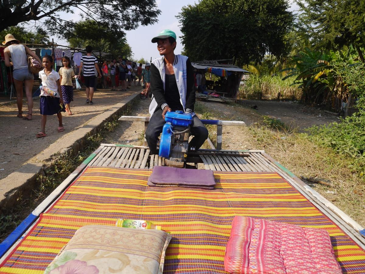Bamboo train driver