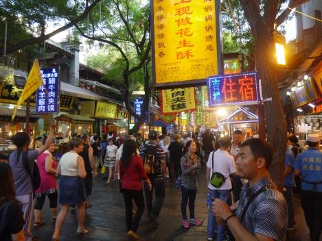 Bustling streets of Xian