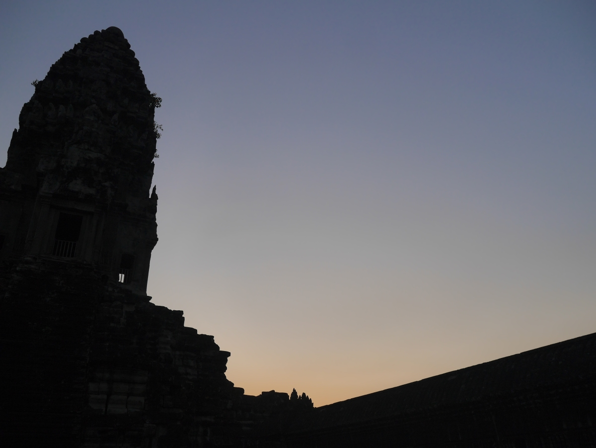 Angkor temples at sunset