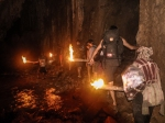 Trekking in a cave in Thailand