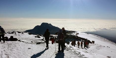 Students making a push to the summit of Mt Kilmanjaro