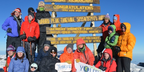 Success! WYA student expedition on the roof of Africa, Mt Kilimanjaro