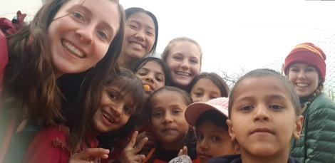 School Leavers and Nepali Kids in Nepal