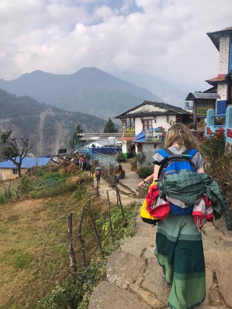 School Leavers Trekking in Annapurna Nepal